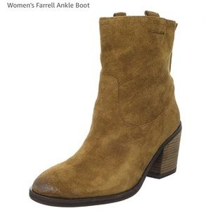 SAM EDELMAN Sz 7 Brown Suede Ankle Boots
